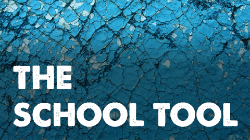 "An pattern image with text ""The School Tool"""