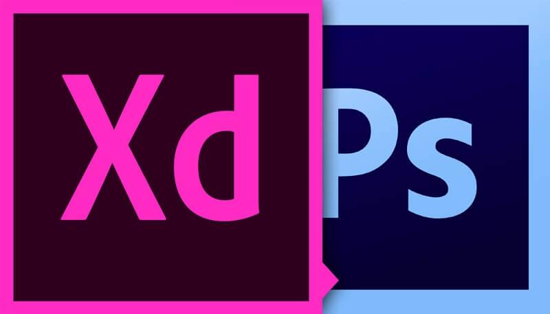 Adobe XD and Adobe Photoshop Logos