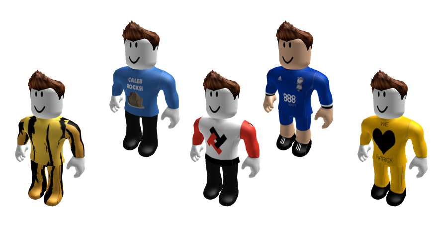 Clothing examples for Roblox