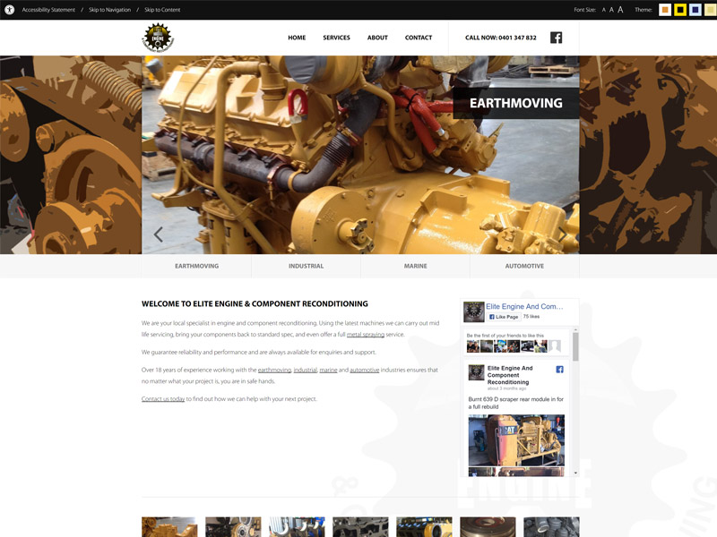 Elite Engine and Component Reconditioning Website