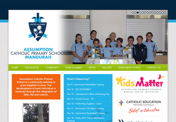 Assumption Catholic Primary School Website