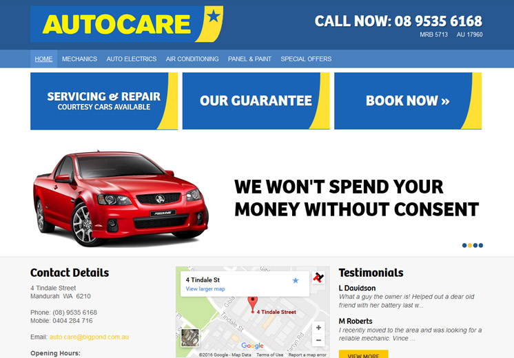 Autocare Website