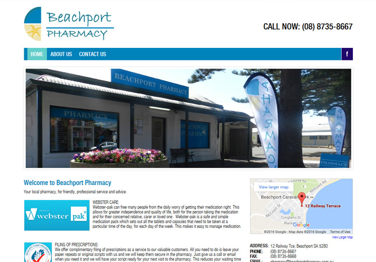 Beachport Pharmacy Website