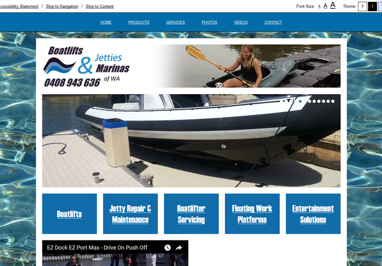 Boatlifts, Jetties & Marinas Website