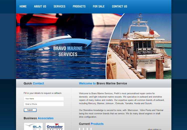 Bravo Marine Website