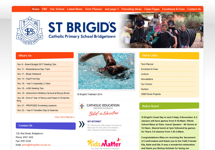 Bridgetown Catholic Primary School Website