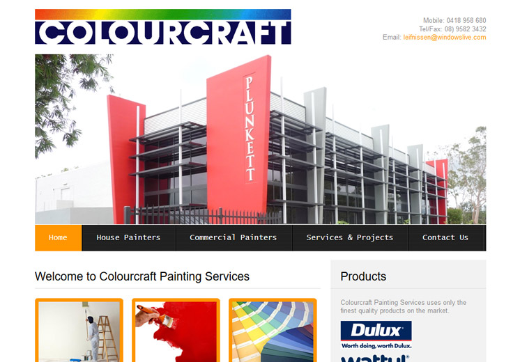 Colourcraft Painting Website