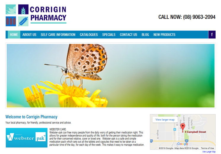 Corrigin Pharmacy Website