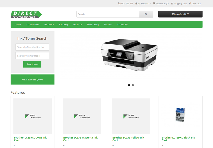 Direct Printer Supplies Website