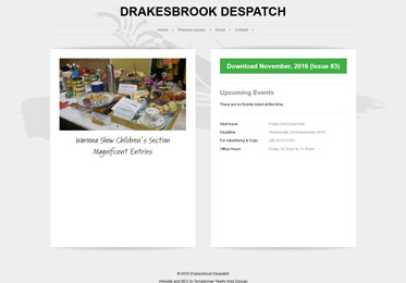 Screenshot of the Drakesbrook Despatch Website