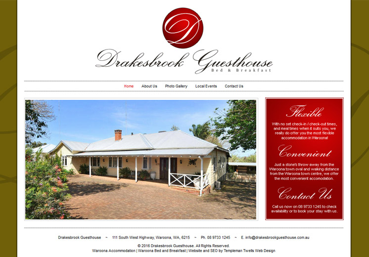 Drakesbrook Guesthouse Website