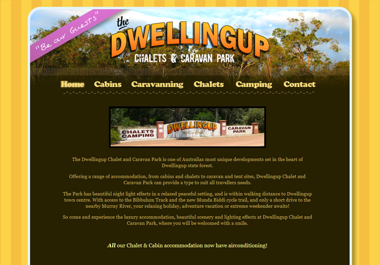 Dwellingup Caravan Park Website