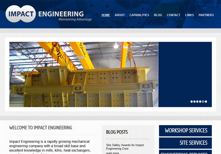 Impact Engineering Website