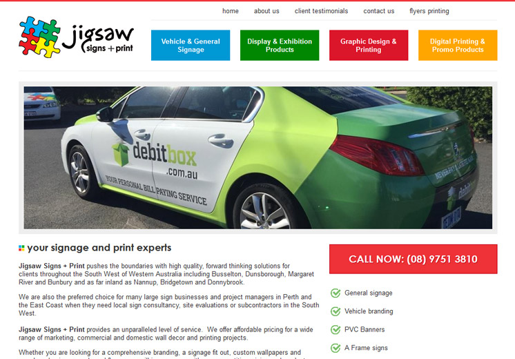 Jigsaw Signs Website