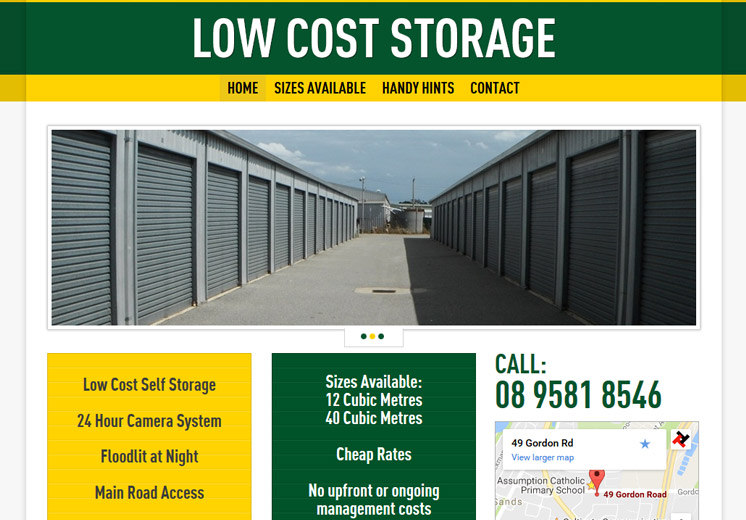 Low Cost Self Storage Website