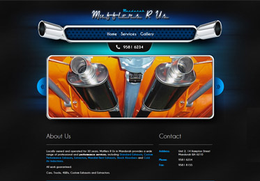 Mufflers R Us Website