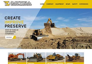 Screenshot of the Raywell Contracting Website