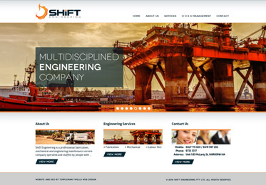 Screenshot of the Shift Engineering Website