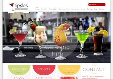 Screenshot of the Tipples Bar Website