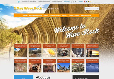 Screenshot of the Wave Rock Website